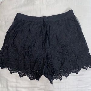 Forever 21 Lace Black Shorts
